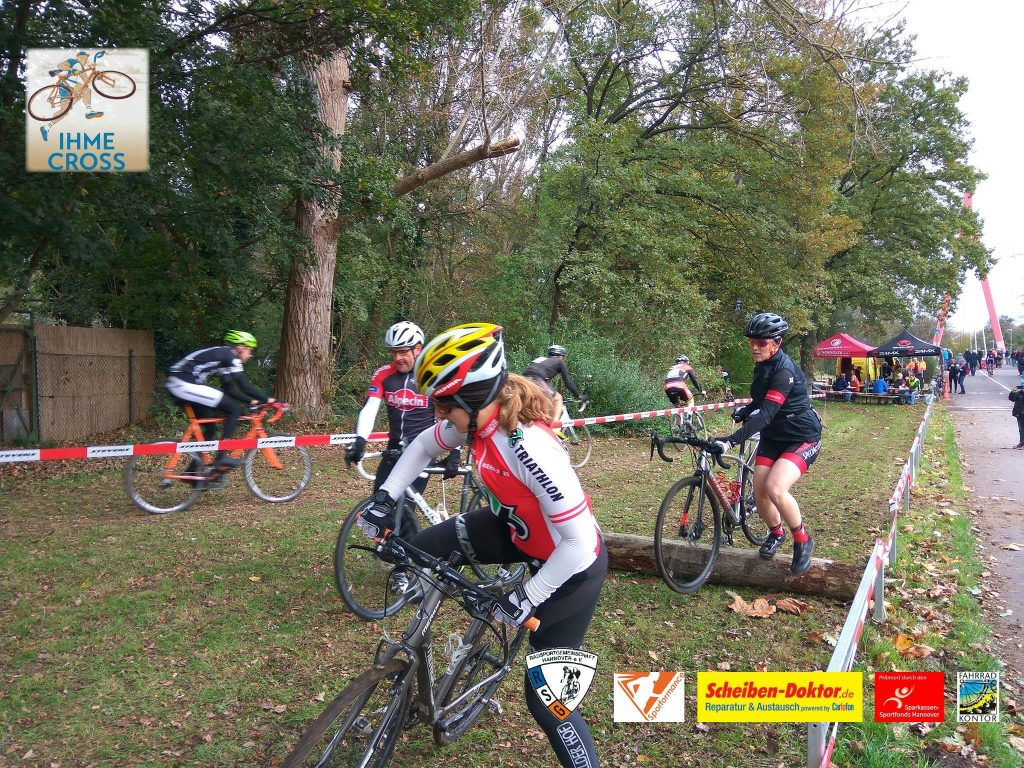 Hindernis beim Ihme Cyclocross in Hannover