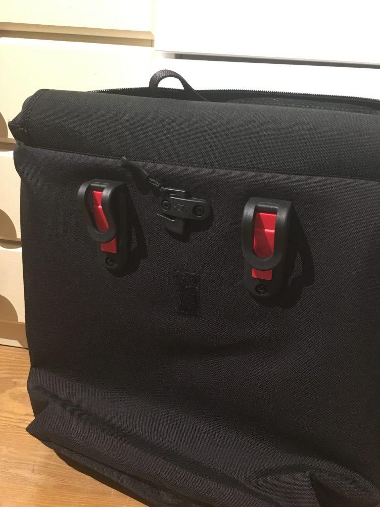 Tasche EMA mit Fahrradhalterung von redrebane