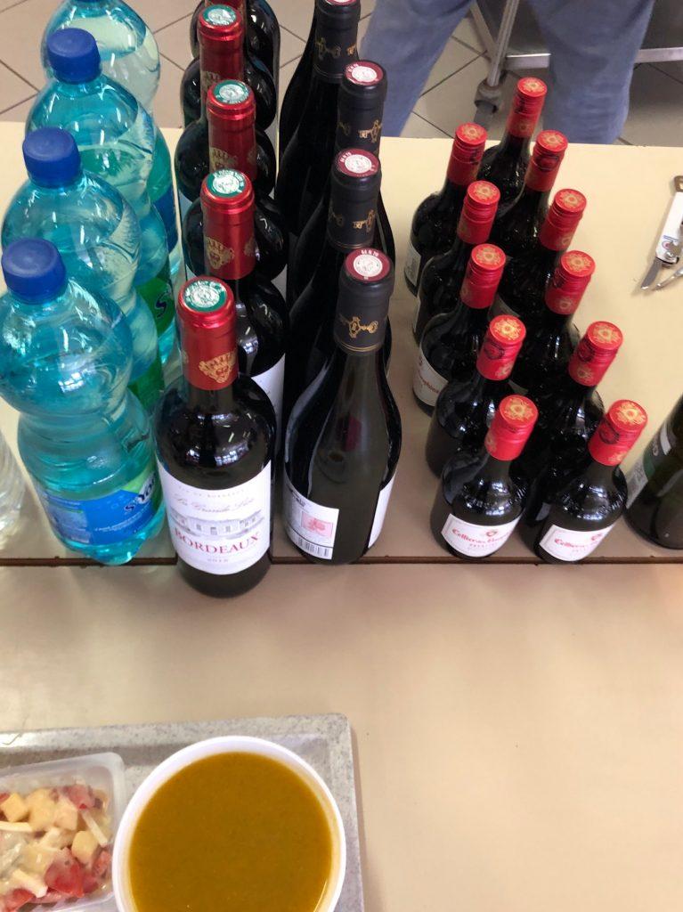 Verpflegung bei Paris-Brest-Paris: Rotwein
